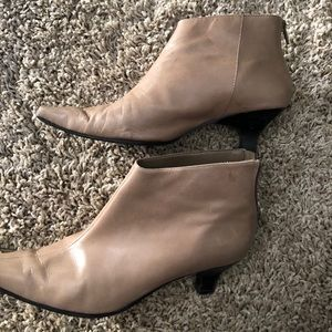 Square toe booties